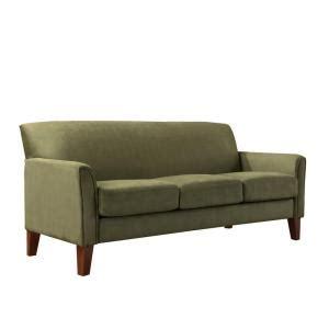 sage microfiber sofa homesullivan sage microfiber sofa 409913sg 3tl sofa the