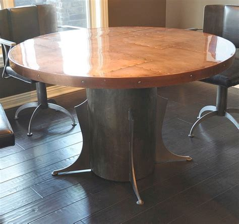 copper top kitchen table copper top table and base dining tables omaha by