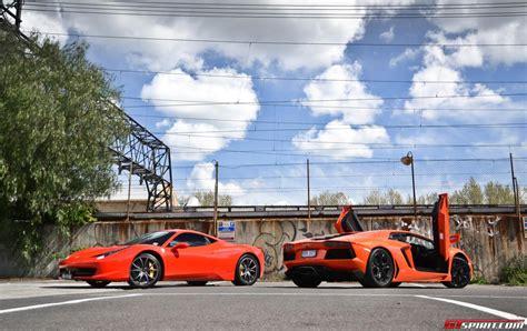 458 Vs Lamborghini Aventador 458 Vs Lamborghini Aventador Gtspirit