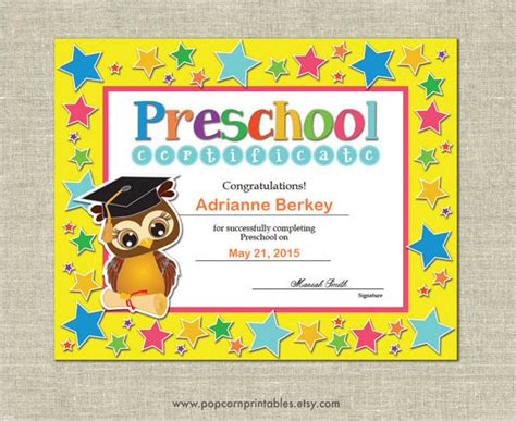 preschool graduation certificates templates graduation certificate template 9 premium and free