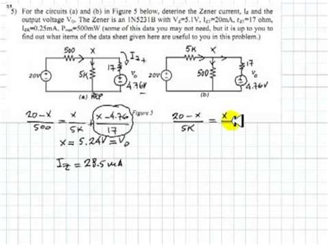 zener diodes exercises zener diodes exercises 28 images zener diode basic electronic engineering assignment