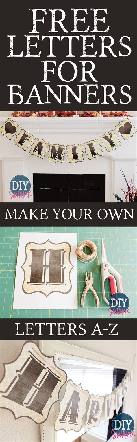 printable letters to make a banner free printable letters
