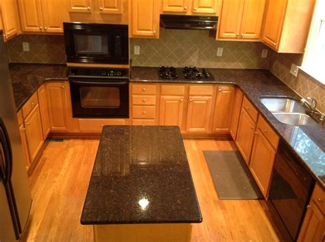 Brown Kitchen Countertops by Granite Countertops Kitchen Traditional With Brown
