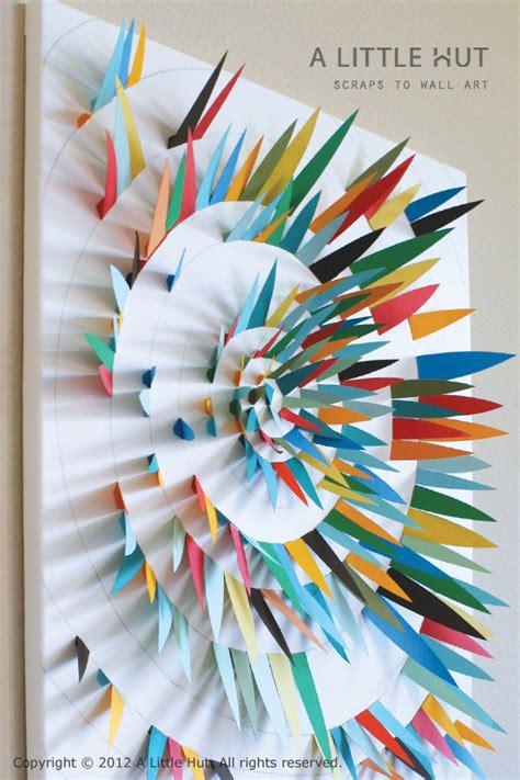 Paper Scraps Crafts - paper scrap wall make