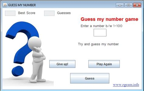 java swing game quot guess my number quot game in java swing code review stack