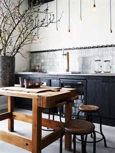 rustic kitchen island modern rustic kitchen with butcher s block island home decorating diy