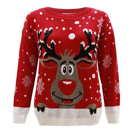 waitrose child christmas jumper boys jumpers rudolph pom pom 3d nose reindeer sweater ebay