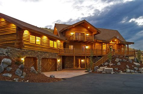 Free Cabin Plans by Manufactured Log Homes Yellowstone Log Homes