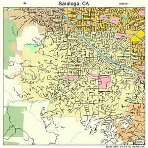 saratoga california map 0670280