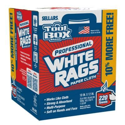 home depot paint rags toolbox 220 count white rags box 5822008 the home depot