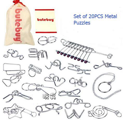 metal wooden puzzles brain teasers games for kids aliexpress com buy 20pcs set gift iq brain teaser