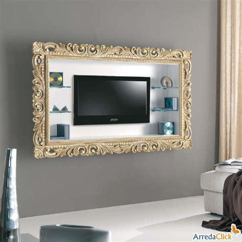 cornice per televisione porta tv a parete tiago