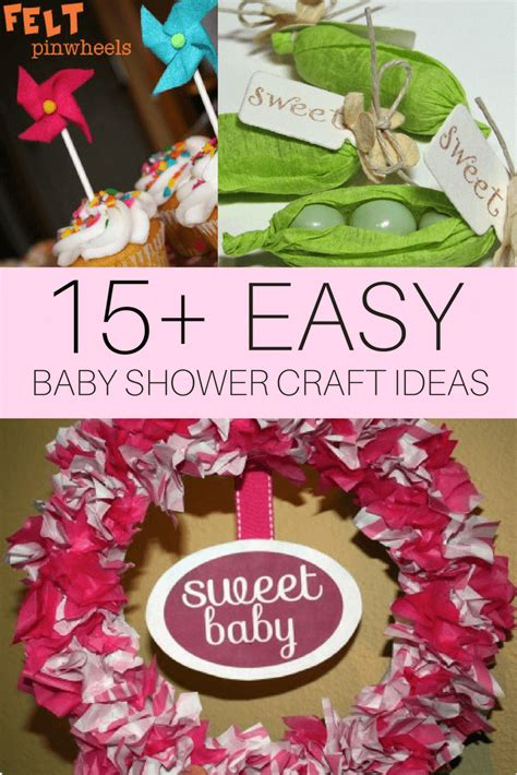 Baby Shower Craft by Diy Baby Shower Craft Ideas Cutestbabyshowers