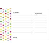 recipe card template software templates multi color design recipe cards on postcards