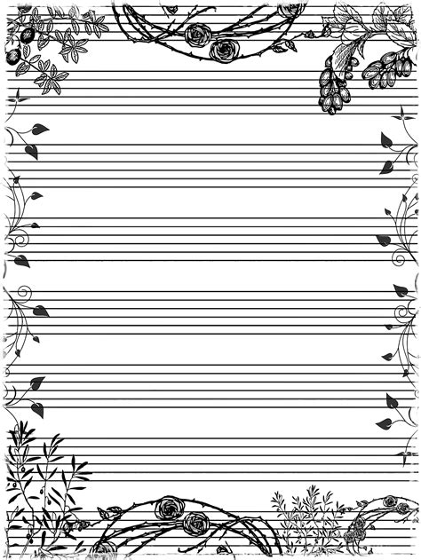 decorative writing paper clipart decorative writing page
