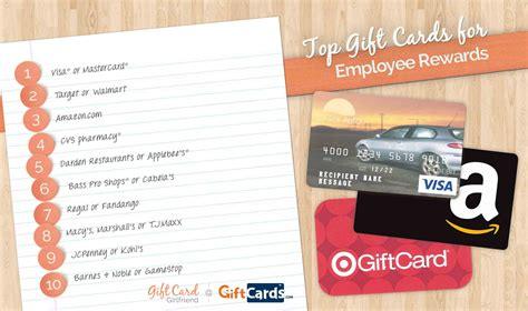 Top Gift Card Sites - top 10 gift cards for employee rewards gcg