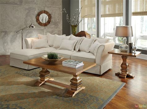 Cottage Sectional Sofa Karlee Linen Upholstery Traditional Cottage Style Sectional Sofa