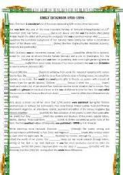 emily dickinson biography worksheet english worksheets emily dickinson biography of 180 the