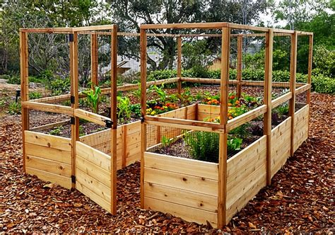raised garden bed with fence garden deer fence raised garden bed outdoor living today