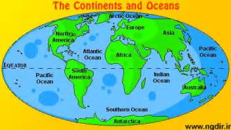 map of 7 continents and 5 oceans digital computer