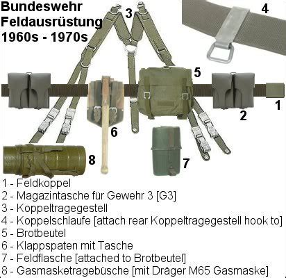 1958 pattern web equipment early bundeswehr feldbluse trousers