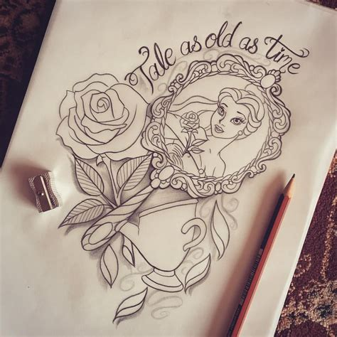 beauty and the beast tattoo designs and the beast design ideas