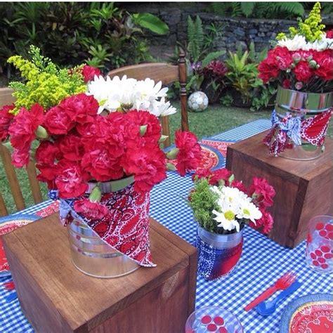 ideas de centros de mesa vaqueros centros de mesa con latas fiesta vaquera en ccs cowboy