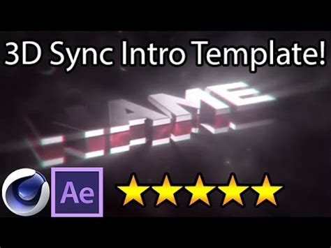 after effects intro free template tutorial youtube free 3d sync intro template full tutorial after effects