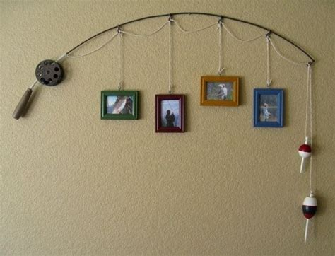 fishing decor for homes fishing rod decor crafts pinterest