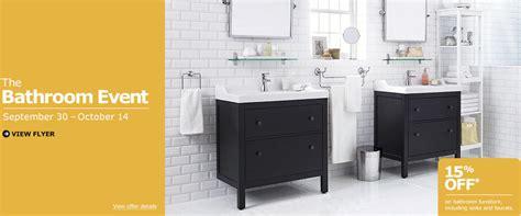 Bathroom Furniture Montreal Ikea The Bathroom Event 15 All Bathroom Furniture Sept 30 Oct 14 Montreal Deals