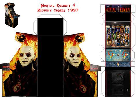 Mortal Kombat Papercraft - mortal kombat 4 papercraft arcade cabinet by papercrafter1