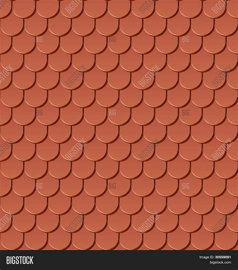 roof pattern vector clay roof tiles seamless vector vector photo bigstock