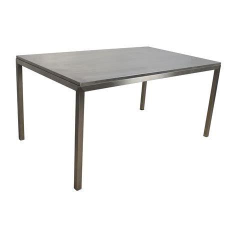 Steel Dining Room Table 56 Room And Board Room Board Portica Stainless Steel Dining Table Tables