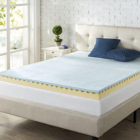 zinus 4 quot swirl gel memory foam air flow mattress topper walmart canada