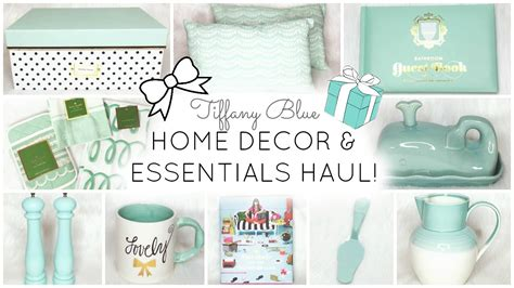 home decor essentials tiffany blue aqua home decor essentials haul