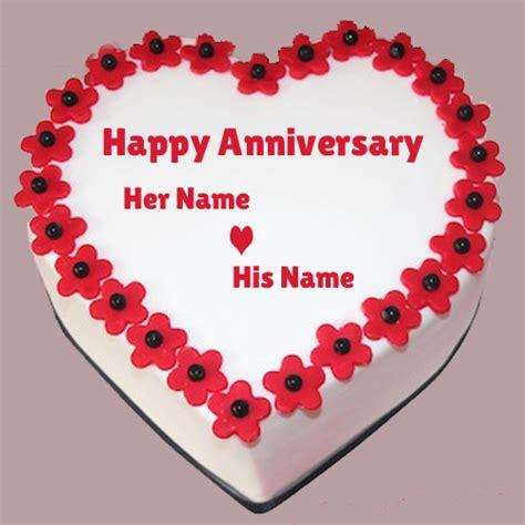write name on wedding anniversary cake