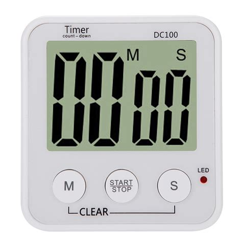 timer cuisine lcd digital cooking kitchen countdown timer alarm count