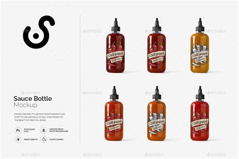 Sauce Bottle sauce bottle mockup template by nomanzxx graphicriver