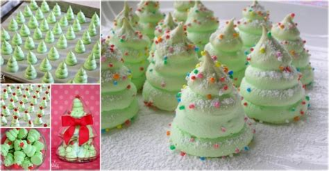 how to make christmas tree meringues home design garden