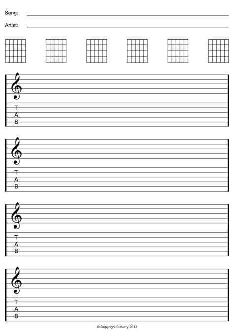 printable staff paper for guitar free guitar blank tab paper staff paper ready to print