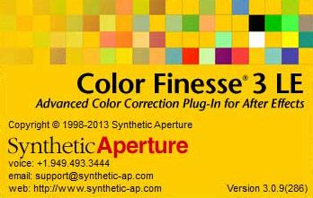 color finesse ae cc调色插件 color finesse 3 09 for after effects cc下载 颜色校正