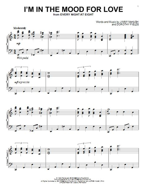 tutorial piano in the mood i m in the mood for love sheet music by dorothy fields