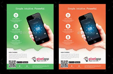 brochure templates for android 30 effective web mobile apps flyer psd templates web