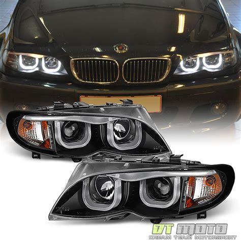 2002 bmw 330ci headlights black 2002 2005 bmw e46 sedan 3 series led 3d style halo