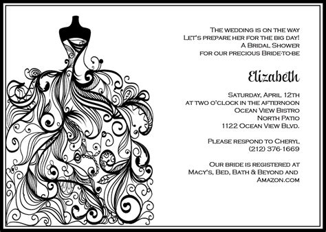 6 Best Images Of Black And White Printable Invitations Black And White Stripes Invitation Black And White Invitation Template