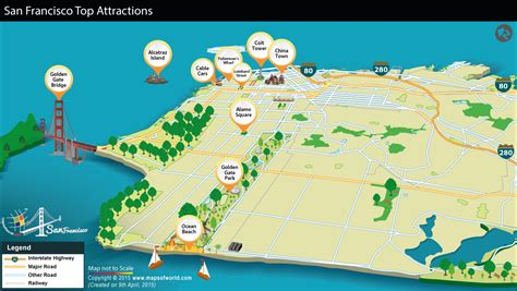 san francisco map of tourist attractions map of san francisco tourist attractions