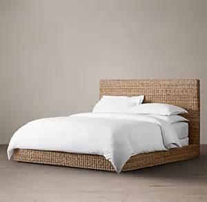metal woven beds restoration hardware