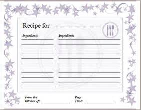 free recipe template blank recipe card template formal word templates