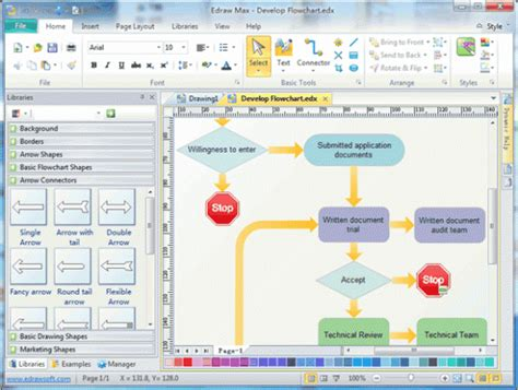 microsoft powerpoint flowchart template design a flowchart in excel 2013