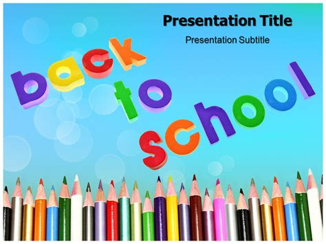 Back To School Templates Powerpoint School Ppt Backgrounds Back To School Powerpoint Templates